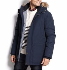 NEW Tommy Hilfiger Mens Newberg Snorkel Coat XL Blue Chambray $399