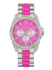 Identity London Ladies' Stone Set Pink Dial Bracelet Watch New