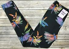 Multi Color Dragonfly Leggings ONE SIZE OS 2-10