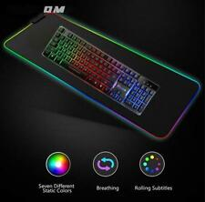 Large Size LED Lighting Colourful RGB Luminescent Gaming Comfortable Mouse Pad