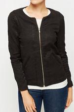 Smart black croc embossed jacket, Size S/8-10, NWT