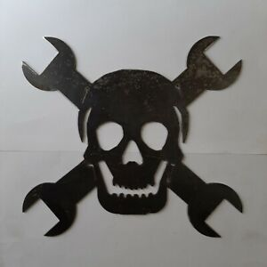 Skull and wrenches decoration metal art