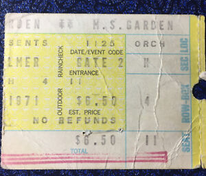 Emerson Lake and Palmer Concert Ticket Stub New York 11-25-71
