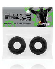 Ignite Power Stretch Donut Cock Ring - Black Pack of 2