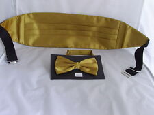 Shiny Polyester GOLD Cummerbund and Bow Tie Set-in Over 60 Colours Available