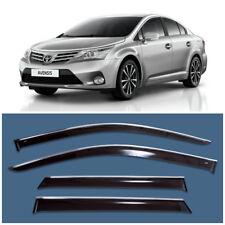 Chrome Trim Window Visors Guard Vent Deflectors For Toyota Avensis Sd 2009-2017