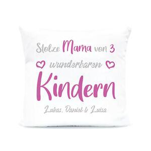Stolze Eltern | Deko Kissen mit Motiv personalisiert | Geschenk Familie