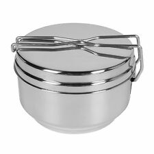 Helikon-Tex Three-pieces mess tin, outdoor cooking set, stainless steel