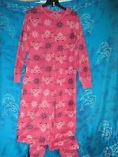 nwt Retro TV Pink Panther Cartoon Adult Footed Footie 1 Piece Fleece Pajamas L