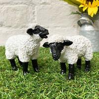 Miniature Resin Home Garden Decor Sheep Lamb Farm Animal Ornaments Figurine Gift
