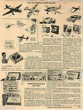 1967 PAPER AD Cox Planes Cars Stuka Chaparral Matchbox Warhawk Aurora Whaler