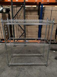 Vogue Commercial Wire Basket Shelving Unit 3 Tier 120cm