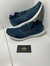 386e3f0b9 ADIDAS ULTRA BOOST Uncaged Parley Size 9 BY3057 Navy Blue Great Condition