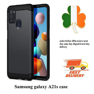 Screen Protector cover Armor Case For Samsung Galaxy A21s black Shockproof slim