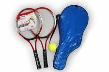 Raqueta de Tenis Juego 2 con Bola Adolescentes Entrenamiento Fibra Carbono Acero