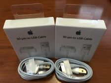 2X OEM Quality 30 pin to USB Sync Data Charging Cable -Apple iPhone 4 4S iPod