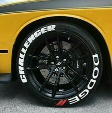 """Dodge Challenger Tire Stickers PERMANENT Lettering 1.25"""" for 14""""- 24""""  8 Decal"""