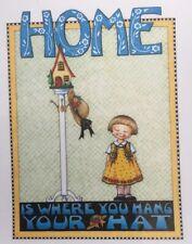 Mary Engelbreit Artwork-Home Is Where -Handmade Fridge Magnet