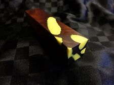 Australian Figured Gidgee Stump Wood Knife Blocks (Resin Cast - Yellow)