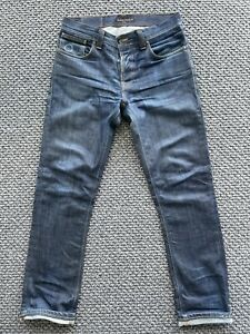 Nudie Grim Tim Dry Dirt Organic Mens Jeans W32 L34