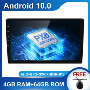"""10.1"""" AUX Android 10 Octa Core Car Radio Stereo WiFi GPS+Camera 4G+64G Car Play"""