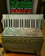 1929 Vintage Excelsior Accordion, Jeweled Etta, Gold