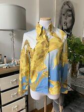 PAUL SMITH Original Blue Silk Blouse Sz 38 850$