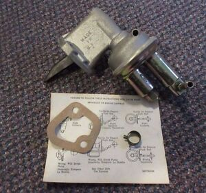 """41252 NEW NOS """"Made in USA"""" Standard Fuel Pump - M60330 - 1976–86 Ford Inline 6"""