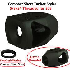 5/8x24 Threaded Comact High Perormance Mini Tanker Muzzle Brake F .308 W Washer