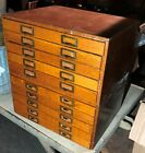 VINTAGE FLAT FILE WOOD WEIS ARTIST COLLECTOR ARCHITECT 10 DRAWER