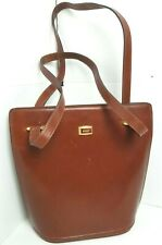 BALLY Brown Leather Shoulder Bag Made in Italy