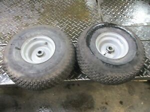 TORO WHEEL HORSE 17-44    PAIR SET FRONT   WHEELS AND TIRES 15X6.00-6