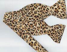 Jaguar Print Bow Tie / Small Jaguar Spots on Tan / Wild Cat / Self-tie Bow tie