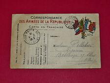 CPA GUERRE 14-18 CORRESPONDANCE MILITAIRE 1916 POILUS ARMEE MILITARIA TRANCHEES