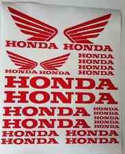 Honda Honda Alas Tanque Moto de vinilo en las Pegatinas Conjunto De Coche Van Todos Los Colores