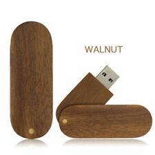 USB 2.0 Rotate Walnut Wood pendrive Flash Drive stick Custom Photography lot f