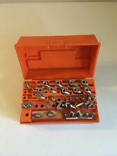 Vintage Sears Craftsman Router Bit Kit #25425 - Total of 36 Pieces & Orange Case