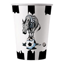 Bicchieri Juve Zebrotto Juventus Bianco Nero 200cc Compleanno 10 pz Art 60328