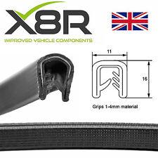 Coche De Metal Negro Grande ajuste del borde ribete de goma sello Kit Plástico Suave 1 2 3 4 mm