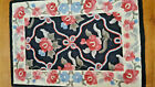 """Vintage Small Wool Hooked Rug Traditional Floral 35"""" X 24"""" FREE SHIP US"""