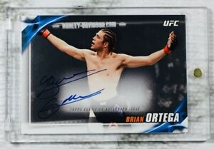 """2019 Topps UFC Knockout (#65/99) BRIAN ORTEGA """"T-CITY"""" """"SP"""" ON CARD AUTO!!!📈📈"""