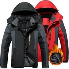 Mens Winter Warm Fleece Jacket Coats Lining Thick Waterproof Mountain Jackets
