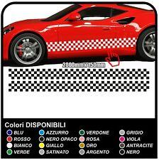 Stripe Adesivo Audi Adesivo Laterale a scacchi Strisce Adesivi Strisce scacchi
