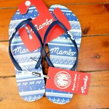 Ladies Mambo Blue Thongs Size 9
