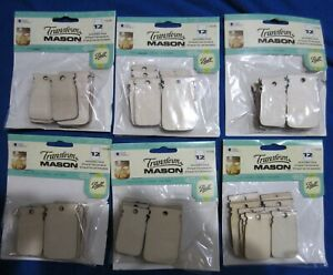 Ball Canning Mason Jar Labels 72 WOOD Tags Two Sizes 6 Packs Free Shipping !!!