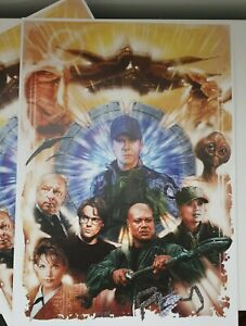 Stargate Sg1 A3 Artprint beautifully drawn by jason fletcher high quality poster