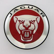 ONE (1) Jaguar Growler Red Wheel Center Cap XJ XK XF XE F-Type E-Pace Genuine