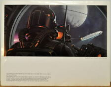 Star Wars TIE FIGHTER PURSUES MILLENIUM FALCON CONCEPT PRINT McQuarrie 77