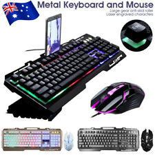 PC Laptop Gaming Wired USB LED Keyboard and Mouse Combo Bundles Set For PS4 Xbox