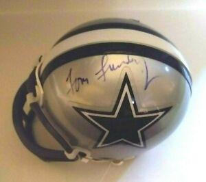 Dallas Cowboys Mini Helmet Auto Signed by Tom Landry